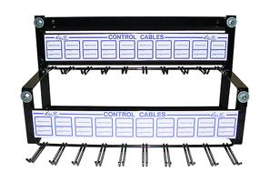 "Cable Rack Display, 18"" 2 Tier"
