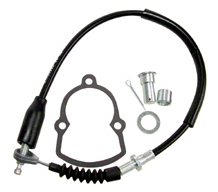 Cable Kit, Black Vinyl, Brake (+4In.)