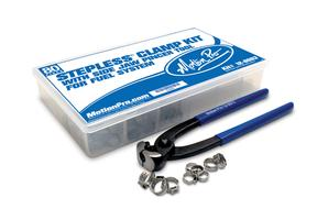 Stepless Clamp Fuel Line Fittings Kit, 80 pcs, w/Pincer Tool