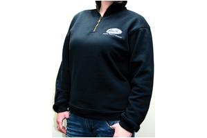Sweatshirt, Quarter Zip, Navy, X-Large
