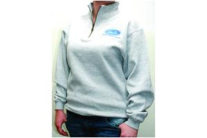 Sweatshirt, Quarter Zip, Gray, Small