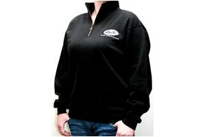 Sweatshirt, Quarter Zip, Black, Large