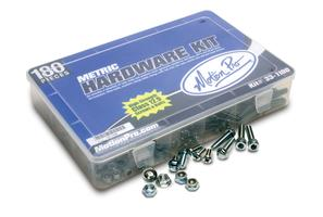 Metric Hardware Kit with Class 12.9 bolts and screws, 180 Pcs